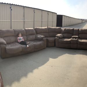 Hide-a-bed Sofa/Loveseat With Wedge for Sale in Provo, UT