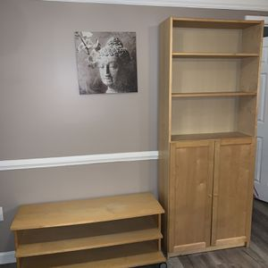 IKEA Cabinet With Shelves And TV Stand With Shelves for Sale in Atlanta, GA