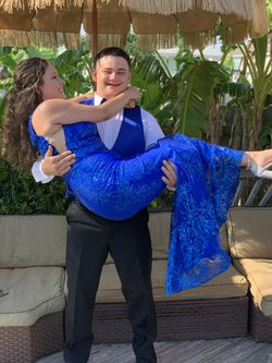 Royal Blue Mermaid Style Sequin Prom Dress for Sale in OLD RVR-WNFRE,  TX