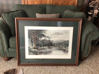 """Picture - Custom Framed """"Where Brook and River Meet"""" Print for Sale in Colleyville,  TX"""
