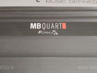 Car Amplifier : MB QUART 400 watts 4 channel Car Amplifier Built in crossover 20a×2 fuses for Sale in Bell Gardens,  CA