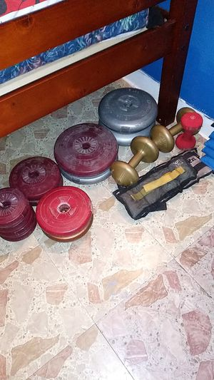 Weight set of wheights for Sale in Chicago, IL