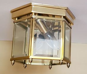 3 Brass Flush Mount Light Fixtures for Sale in Mount Airy,  MD