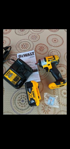 DEWALT 20-VOLT MAX LITHIUM ION CORDLESS 3/8 IN IMPACT WRENCH KIT WITH HIGH CAPACITY 4.0AH BATTERY AND CHARGER for Sale in San Bernardino, CA