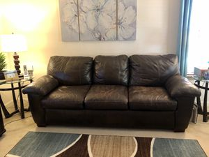 Top grain Leather Sofa and FREE Chair for Sale in Centreville, VA