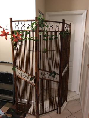Bamboo Folding Screen for Sale in Palm City, FL