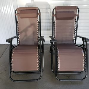 GRAVITY CHAIRS $60= 2 for Sale in Spotswood, NJ