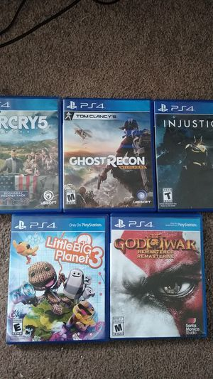 5 PS4 games in perfect condition for Sale in Pittsburgh, PA