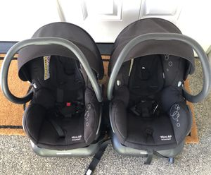 Mico AP Twin Car seats and Snap and Go Double Stroller for Sale in Puyallup, WA