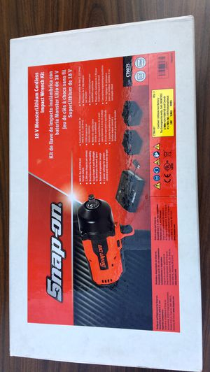 """Snap On 18 V 1/2"""" Drive MonsterLithium Brushless Cordless Impact Wrench 900ft lbs (((( $745 OBO )))) ❗️100% Brand New ❗️ 5.0aH batteries ❗️New 2019 for Sale in Riverside, CA"""