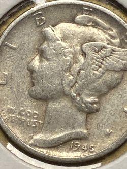 1945-D Silver Mercury Dime DDO DDR RPM ERRORS FB for Sale in Plainfield,  IL