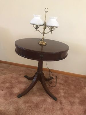 Rare Antique drum table with Lion handles for Sale in Brooklyn, OH