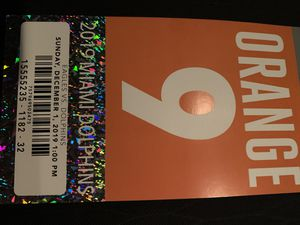 Dolphins orange parking pass 12/1/19 for Sale in Davie, FL