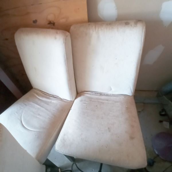 Haunted White Lounge Chairs