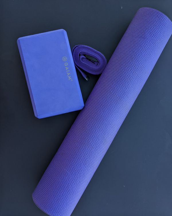 Yoga mats, straps and blocks! Contact me for price and bundle