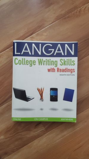 LANGAN COLLEGE WRITING SKILLS WITH READINGS EIGHTH EDITION for Sale in Sacramento, CA