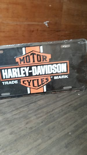 Harley davidson license plate for Sale in Cranberry Township, PA