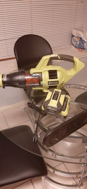 Ryobi blower chainsaw and charger and battery for Sale in Richardson, TX