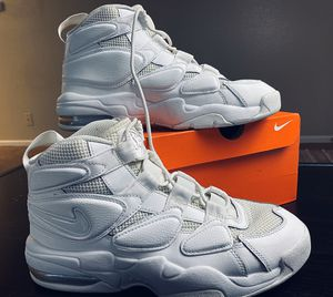 Nike Air Max 2 Uptempo 94 Triple White for Sale in San Antonio, TX