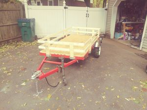 4'×8' Folding utility Trailer with sides for Sale in Chelmsford, MA