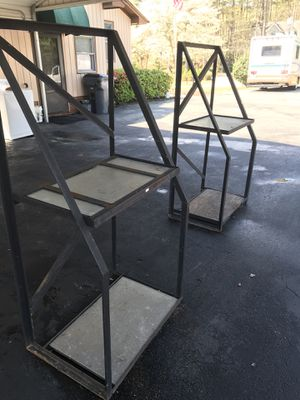 2 industrial metal shelving unit for Sale in Raleigh, NC