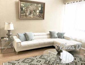Brand new in box modern white bonded leather sectional sofa for Sale in Lakewood, CA