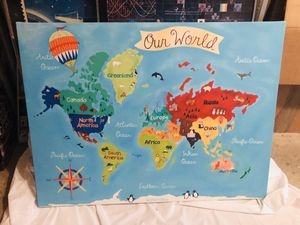 World Map Wall Painting for Sale in Woodbridge, VA