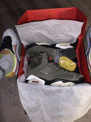 "Travis Scott Air Jordan 6 Retro's ""Olive"" SZ. 10 for Sale in Etiwanda, CA"