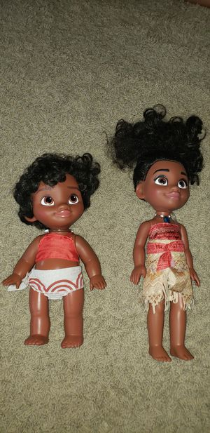 Moana baby and older moana for Sale in Grand Prairie, TX