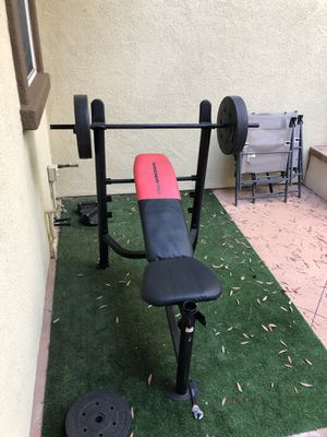 WeiderPro Bench Press w/ 2x25lb and 2x15lb weights - originally $100 - asking $40 OBO for Sale in Tustin, CA