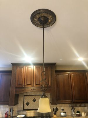 Light fixture pendant with medallion kitchen for Sale in Rochester, MI