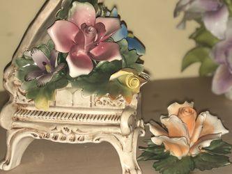 Capodimonte Piano & Orange Flower for Sale in Morgantown,  WV