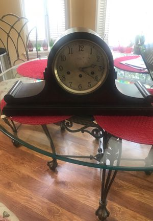 Antique Vintage Junghams Wuerttemberg Mantal Clock with Chimes and Key works good for Sale in Forked River, NJ