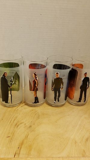 Complete set of 4 Star Trek glasses for Sale in Pinole, CA