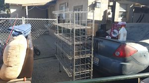 Metal Collapsable storage rack with five shelves for Sale in Fresno, CA