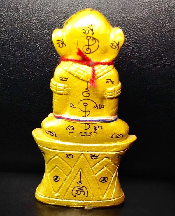 Magic Voodoos Phra Ngarn 3 Eyes Lover Deity Lucky Attraction Love Statue Thai Amulet Collection Blessed by Master Ajarn Uthien