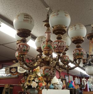 Large 6 arm capodimonte chandelier for Sale in Medford, MA