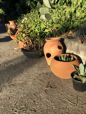 Clay pots and chiminea for Sale in Vista, CA
