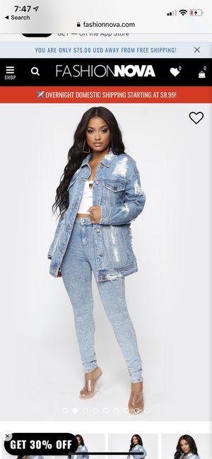 over sized fashion nova denim jacket for Sale in Herndon, VA