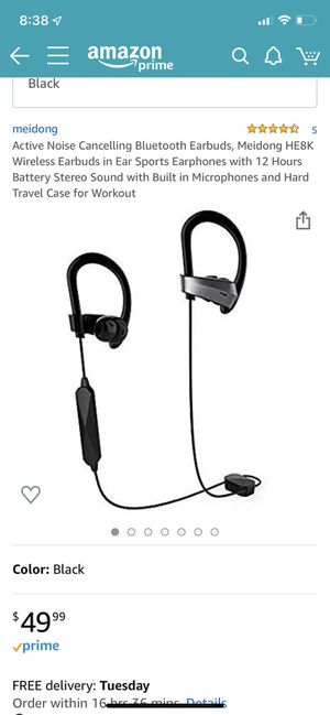 Meidong noise cancelling wireless earbuds 12 hour battery with backup battery and case for Sale in Metairie, LA
