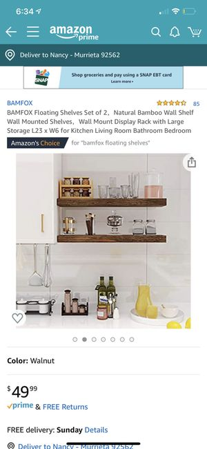 Bamgox Floating Shelves set of 2 for Sale in Murrieta, CA