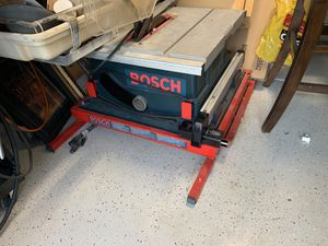 Bosch 4000 table saw with folding stand for Sale in Chula Vista, CA