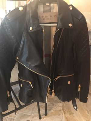 Women's Burberry Leather Jacket Size 6-8 for Sale in Maitland, FL