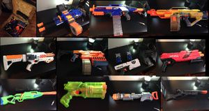 Huge Nerf gun lot with limited edition and custom painted. Read description for Sale in Winter Springs, FL