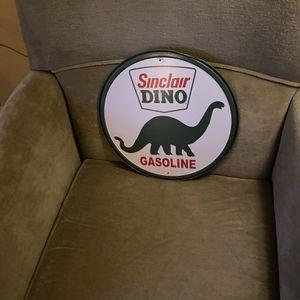 Vintage Metal Sinclair Dinosaur Sign for Sale in Suffolk, VA