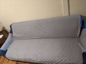 Futon with memory foam topper and double sided cover for Sale in Creedmoor, TX