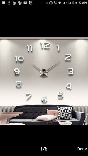 Brand new giant mirrored wall clock for Sale in American Canyon, CA