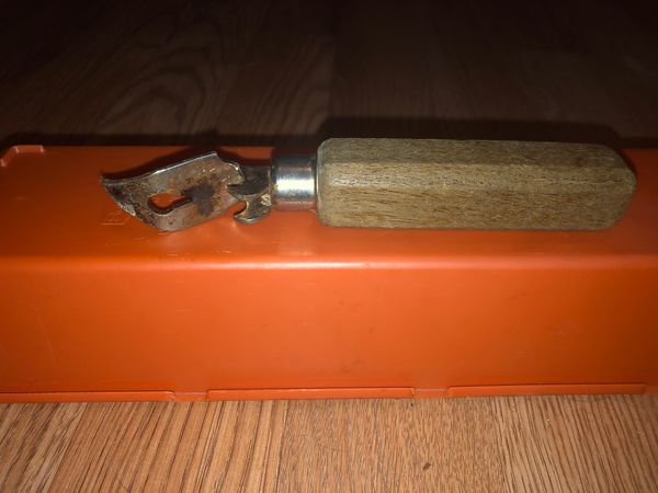 Antique Wood handle Bottle - Can Opener