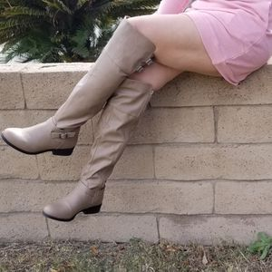 Leatherette Buckled Strap Accent Knee High Boot for Sale in Ontario, CA