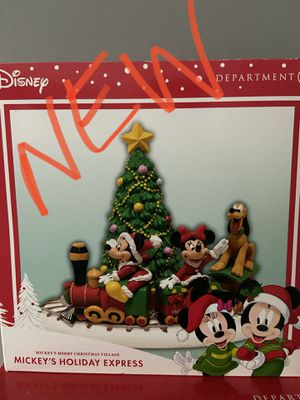 New. Dept 56 Disney Mickeys holiday express village piece. First to pick up in Lyman near food lion for Sale in Lyman, SC
